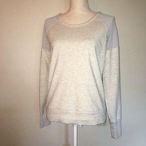 Athleta Citytime Mesh Heathered Sweater Size Small